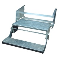DOUBLE PULL-OUT C/VAN STEP ZINC PLATED STEEL 560mm - 450-01410