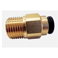 "John Guest Brass Straight Adaptor (12mm x 1/2"" NPT) For Suburban HWS Only - 800-02019"