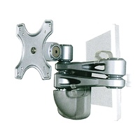 SPHERE DOUBLE ARM WALL MOUNT BRACKET SILVER W/LOCK. 262KS