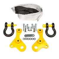 KIT - 4WD - HD TOW POINT 70 SERIES LANDCRUISER - PAIR INC. BRIDLE + SHACKLES