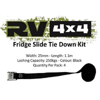 Fridge Slide Tie Down Strap Kit - RV4x4FSTD