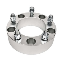 4WD Wheel Spacer - 38mm (1.5) - 5 x 150 - 110CB - M14x1.5 STUDS - SILVER