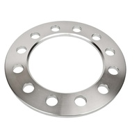 4WD Wheel Spacer - 6mm - 6 x 139.7 - 110mm ID 176mm OD SILVER - SPACER ONLY- NO STUDS