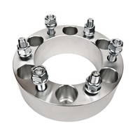 4WD Wheel Spacer - M12X1.5 STUDS - 50mm (2) - 6 x 139.7 - 110mm ID 176mm OD SILVER