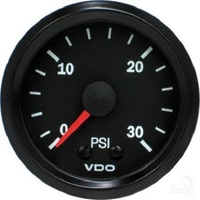 VDO Cockpit Vision Boost Gauge 52mm (0 - 30 PSI) 52mm 0 - 30 PSI