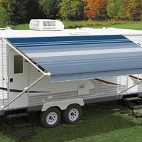 Carefree 12ft Ocean Blue Dune Roll Out Awning (No Arms). FF128E00HM
