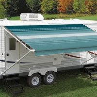 Carefree 12ft Teal Dune Roll Out Awning (No Arms). FF128C00HM
