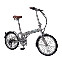 "RV Coaster 20"" Folding Bike Silver, Shimano 6 Speed. TMN2006AHII2-0"