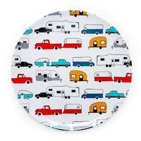 Camco Melamine Dinner Plate, RV Pattern. 53224
