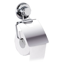 Tatkraft Mega Lock Toilet Paper Roll Holder c/w Cover and Suction Cup. 11458