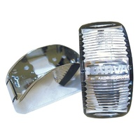 L.E.D SIDE MARKER LAMP RED/AMBER - CHROME BASE. 91602C