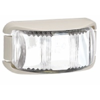 L.E.D FRONT END OUTLINE MARKER LAMP WHITE - WHITE BASE. 91612W