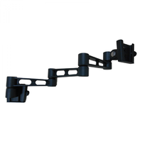 SPHERE S2 BLACK TRIPLE ARM TV BRACKET. 322LB