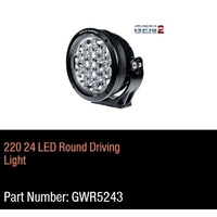 Great Whites - Gen 2 - 220mm 24 LED Driving Light Round  9-32V DC
