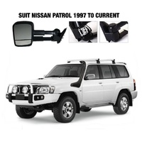 Nissan Patrol GU 1997 on - Extendable Towing Mirrors - Black - NissGUBlack