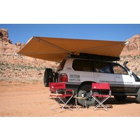 Eezi Awn Bat 270 Awning - fits on passenger side of vehicle and opens along side and rear of vehicle 270 degrees, includes 3 integrated support legs (