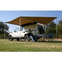 Eezi Awn Manta 270 Awning - fits on passenger side of vehicle and opens along side and rear of vehicle 270 degrees, includes 4 integrated support legs