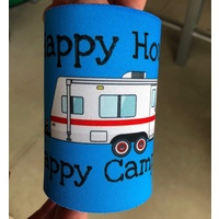 HAPPY HOUR BLUE STUBBY HOLDER