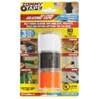 Tommy Tape 25mm x 1m Self-Fusing Silicone Tape - 3 Pack