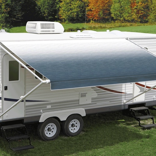 Carefree 11ft Blue Shale Fade Roll Out Awning (No Arms). FF116C00HM