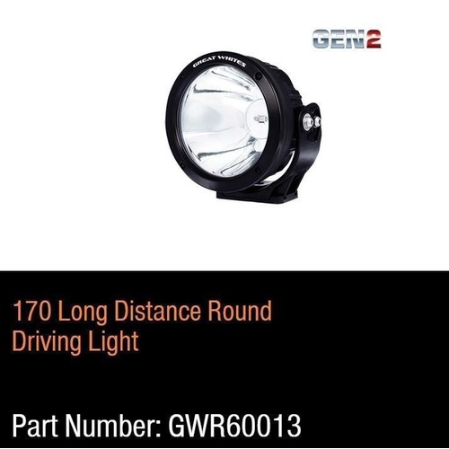 Great Whites - Gen 2  - 170mm Long Distance Driving Light Round  9-32V DC